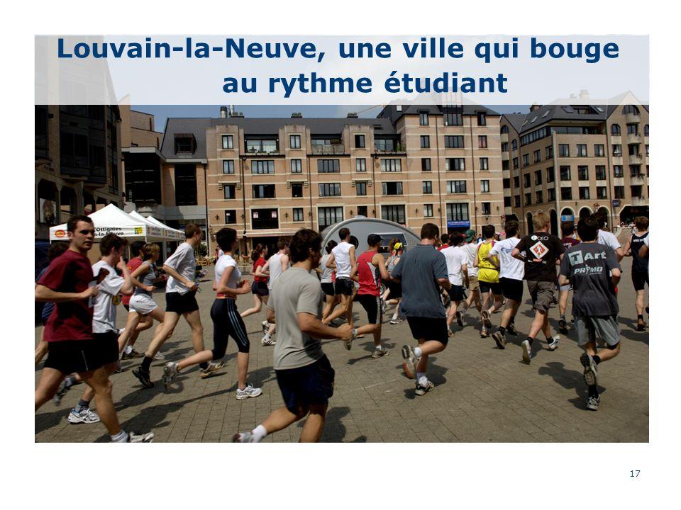 17 Louvain-la-Neuve, une ville qui bouge au rythme étudiant