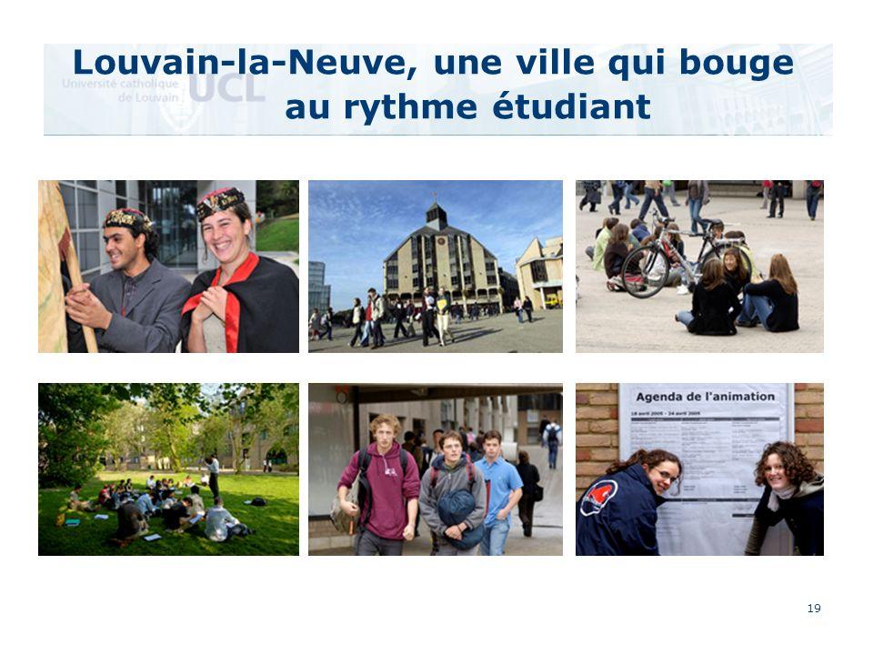 19 Louvain-la-Neuve, une ville qui bouge au rythme étudiant