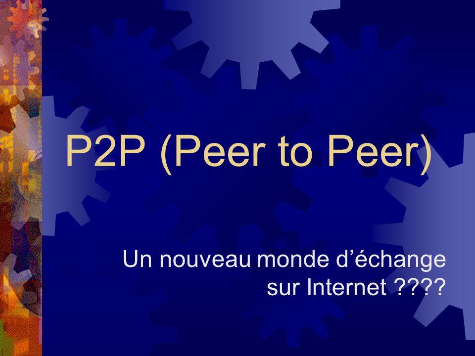 P2P (Peer to Peer) Un nouveau monde déchange sur Internet ????