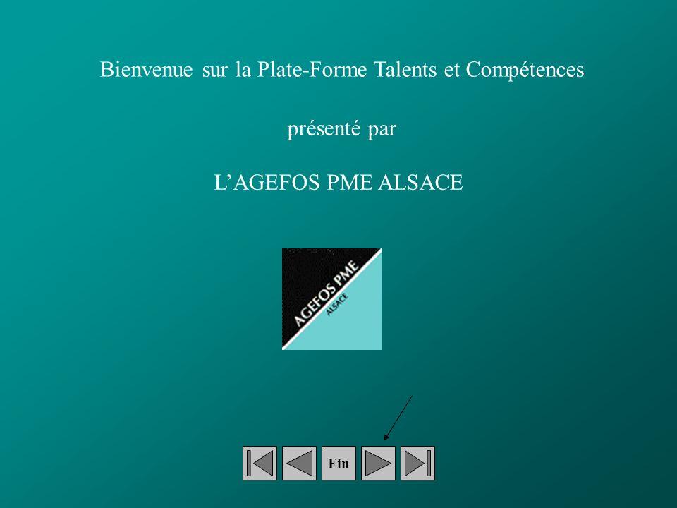Fin Bienvenue sur la Plate-Forme Talents et Compétences présenté par LAGEFOS PME ALSACE