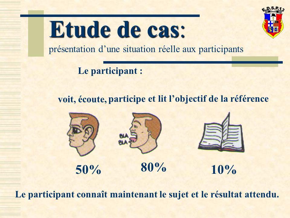 Le participant : Le participant connaît maintenant le sujet et le résultat attendu.