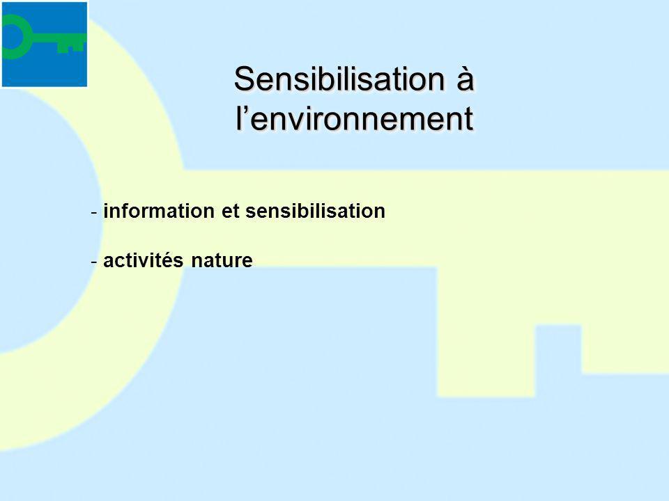 Sensibilisation à lenvironnement - information et sensibilisation - activités nature