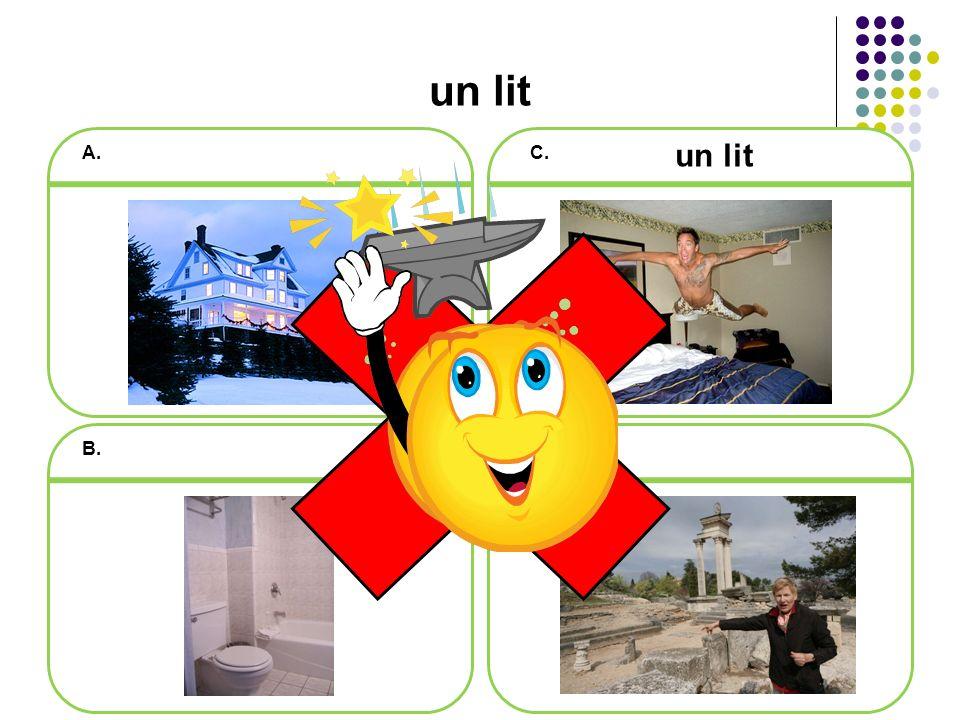 Révision de vocabulaire Quest-ce que cest Cest une salle de bains (avec douche).