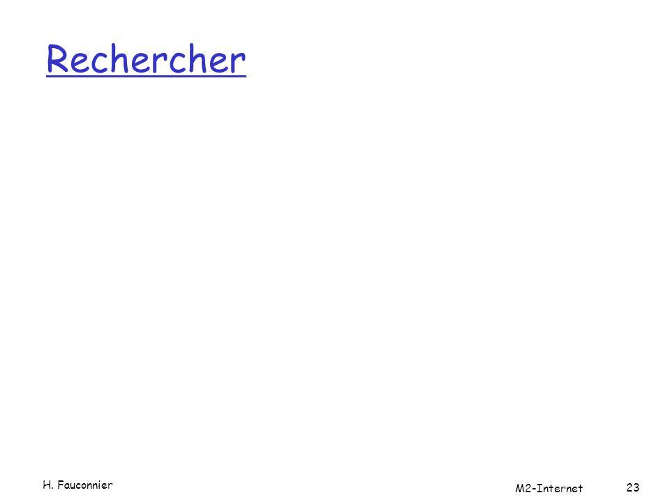 Rechercher H. Fauconnier M2-Internet 23