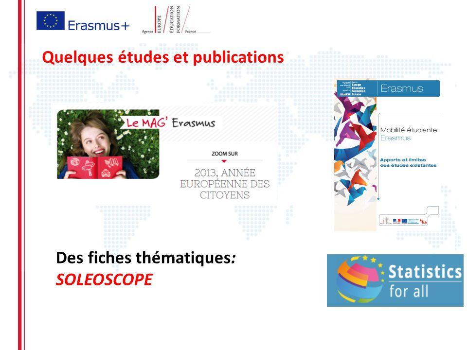 Quelques études et publications Des fiches thématiques: SOLEOSCOPE