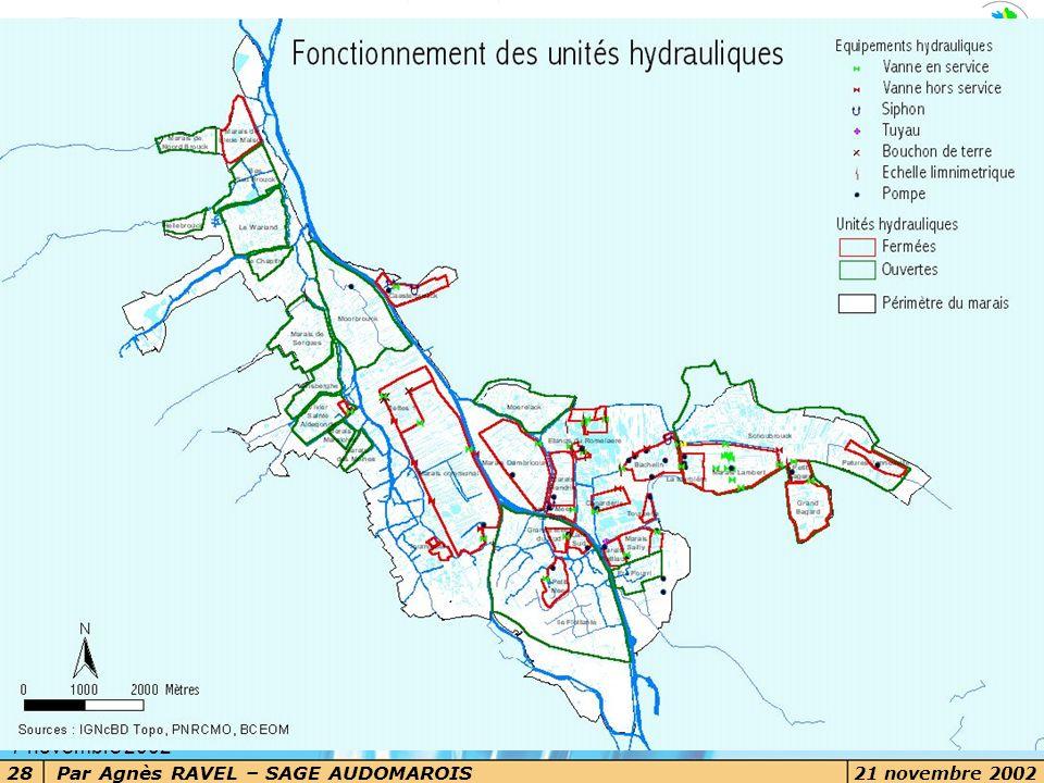 Par Agnès RAVEL – SAGE AUDOMAROIS 21 novembre 2002 28 7 novembre 2002 Les grands enjeux Les voies d'eau dans le marais