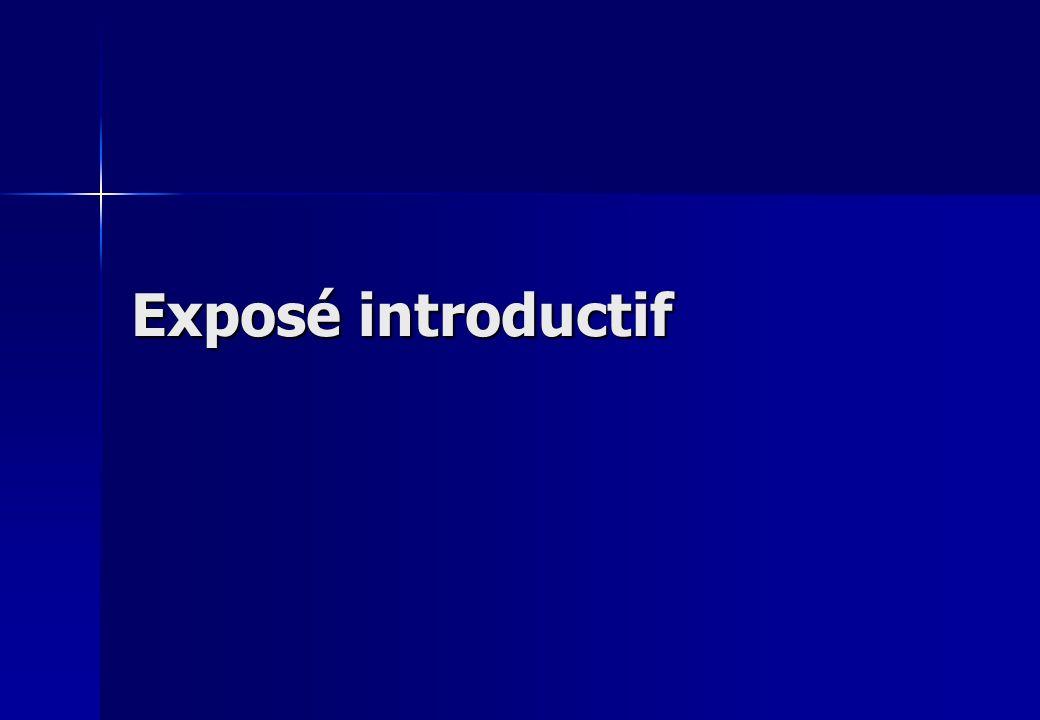 Exposé introductif