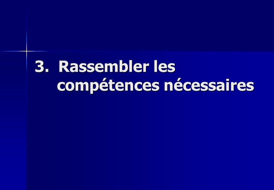 3. Rassembler les compétences nécessaires