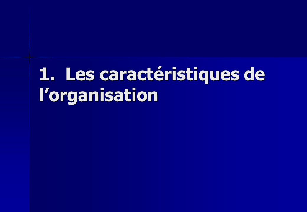 1. Les caractéristiques de lorganisation