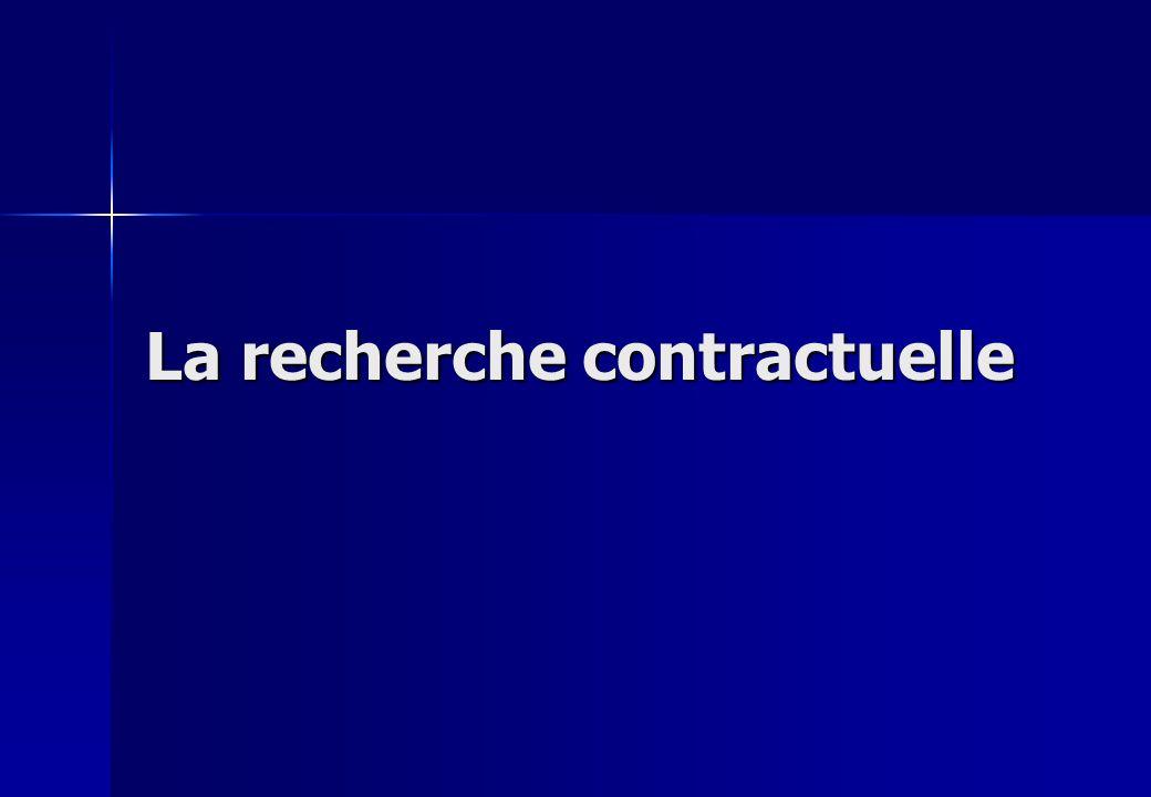 La recherche contractuelle