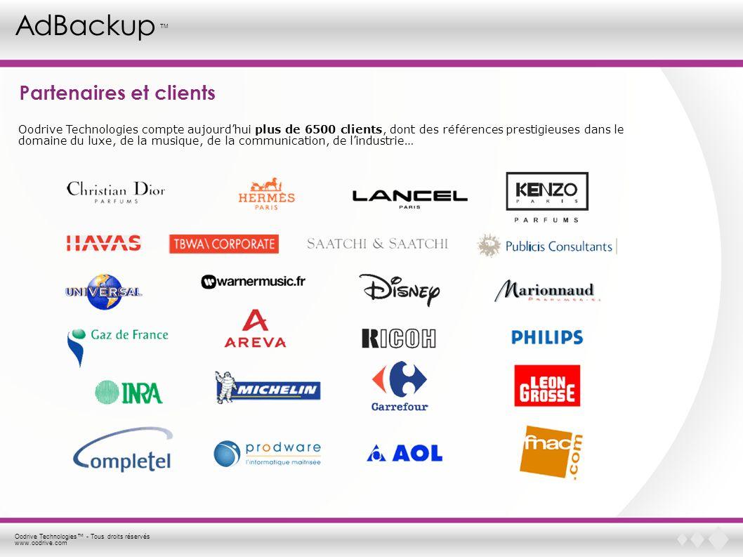 Oodrive Technologies - Tous droits réservés www.oodrive.com AdBackup TM Vos données sont-elles en sécurité .