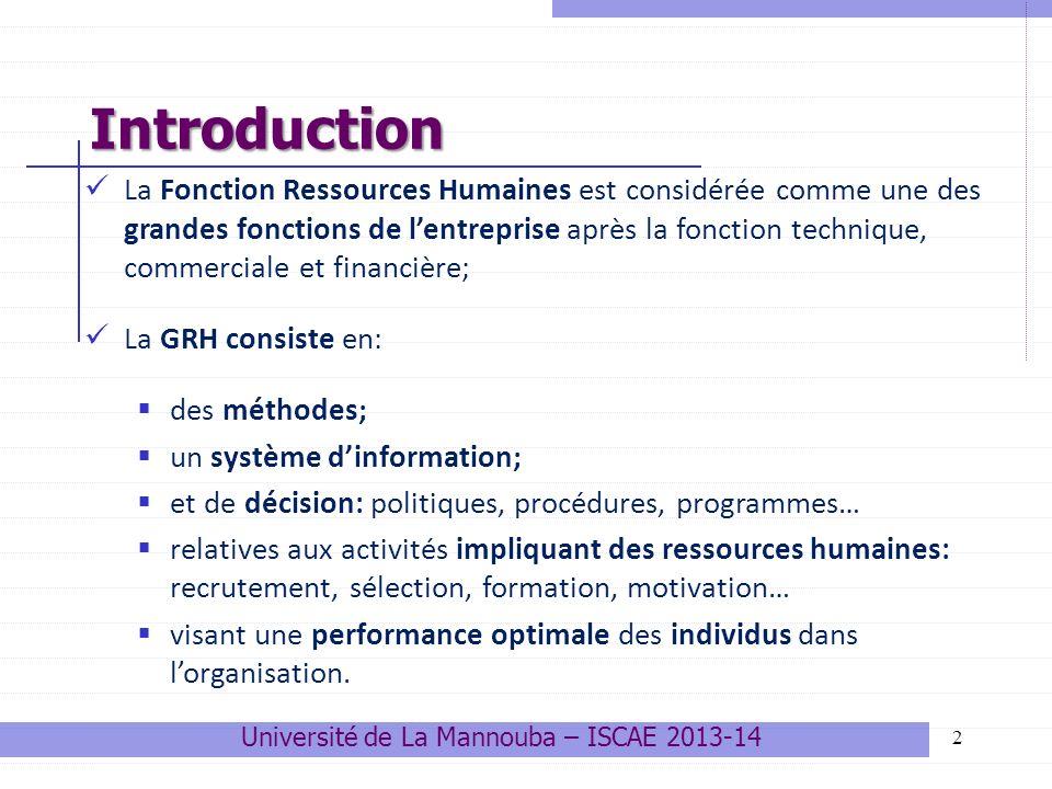 23 La pyramide des âges (application) Université de La Mannouba – ISCAE 2013-14 Quelques outils de gestion prévisionnelle des RH 1.Observez bien cette pyramide et commentez là.