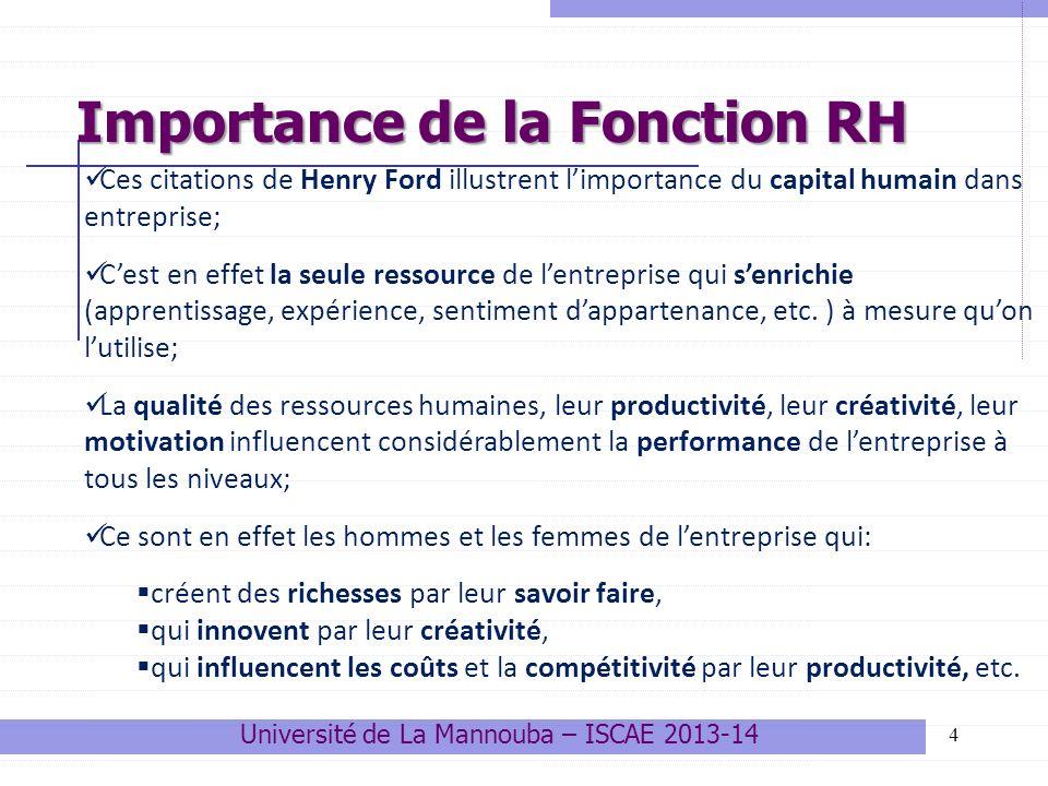 25 La pyramide des âges (application) Université de La Mannouba – ISCAE 2013-14 Quelques outils de gestion prévisionnelle des RH 3.