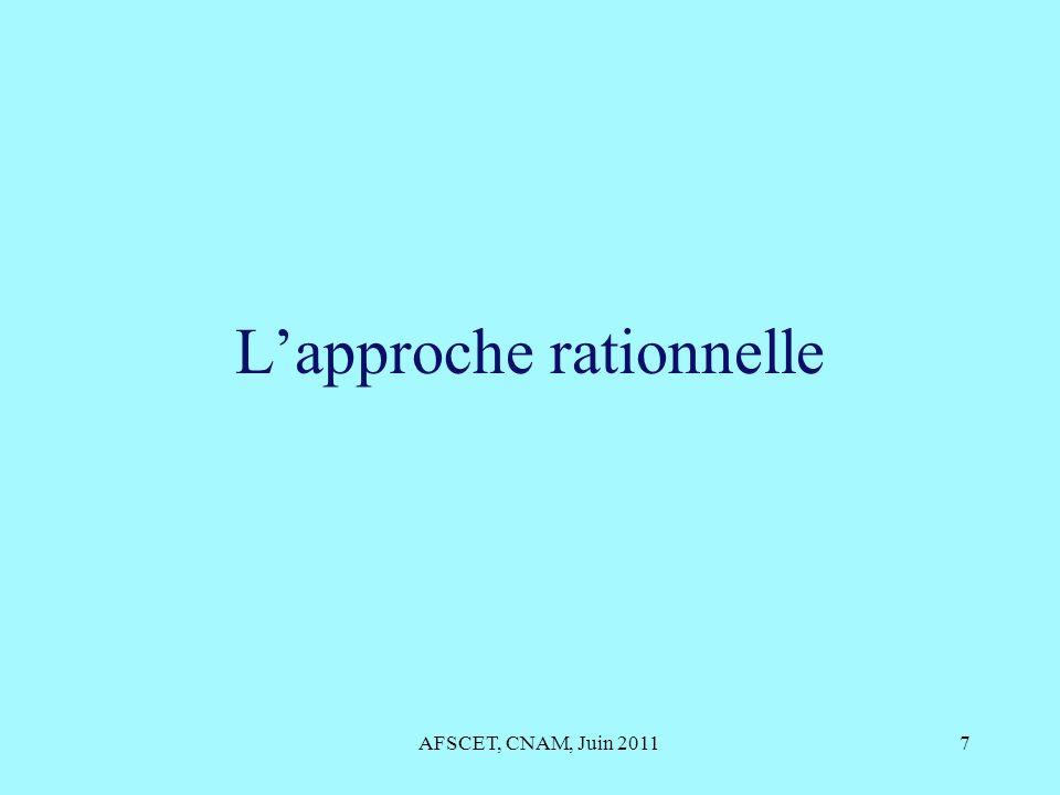 Lapproche rationnelle AFSCET, CNAM, Juin 20117