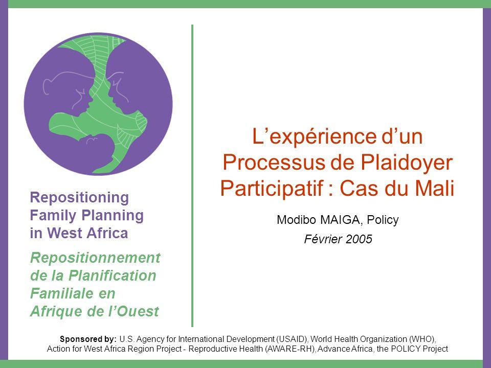 Repositioning Family Planning in West Africa Repositionnement de la Planification Familiale en Afrique de lOuest Sponsored by: U.S.