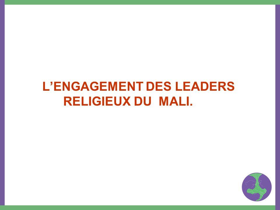 LENGAGEMENT DES LEADERS RELIGIEUX DU MALI.
