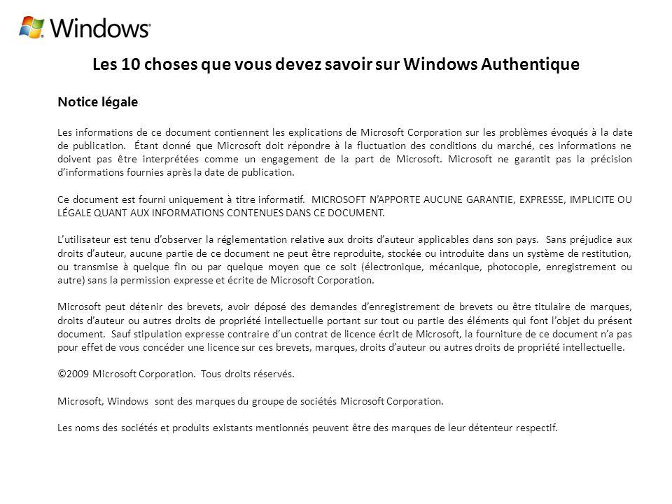 Les 10 choses que vous devez savoir sur Windows Authentique Qu est-ce que l activation .