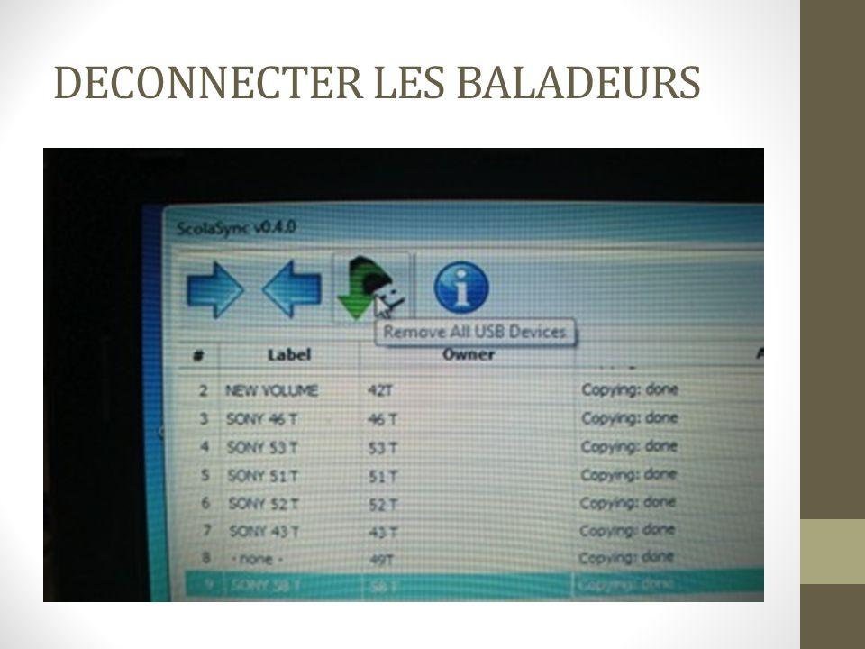 DECONNECTER LES BALADEURS
