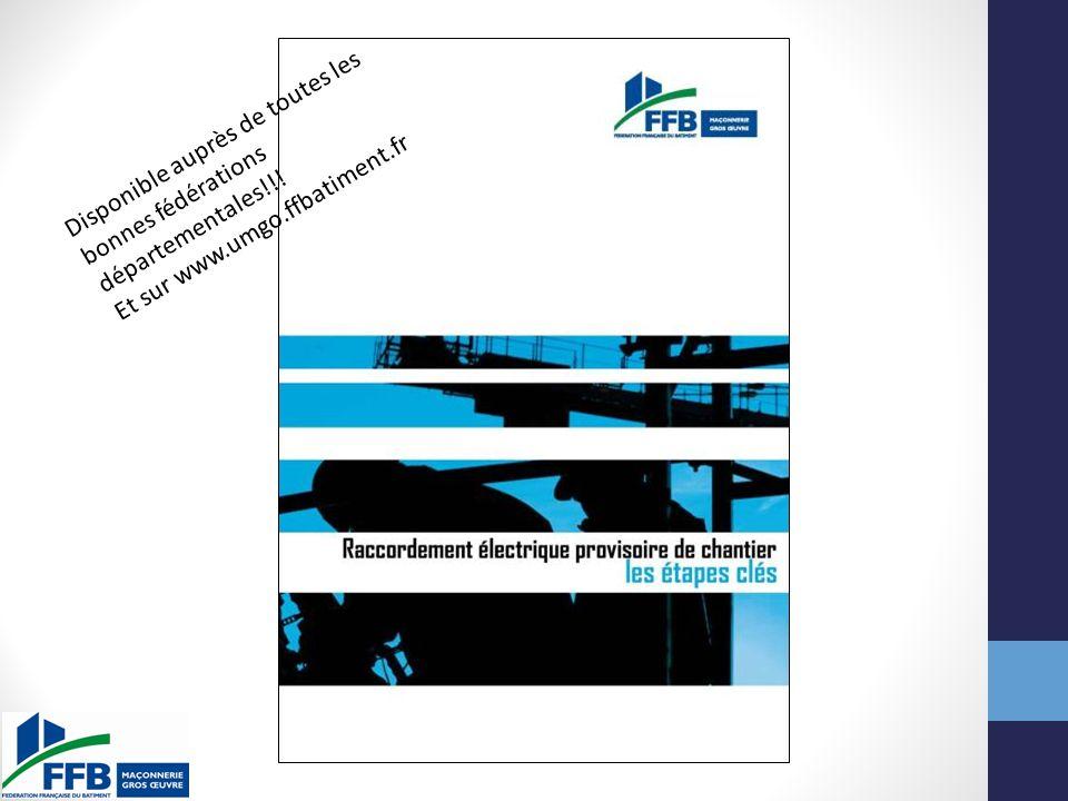 Disponible auprès de toutes les bonnes fédérations départementales!!! Et sur www.umgo.ffbatiment.fr