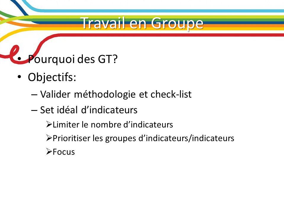 Résumé des GT par les rapporteurs GT 4.