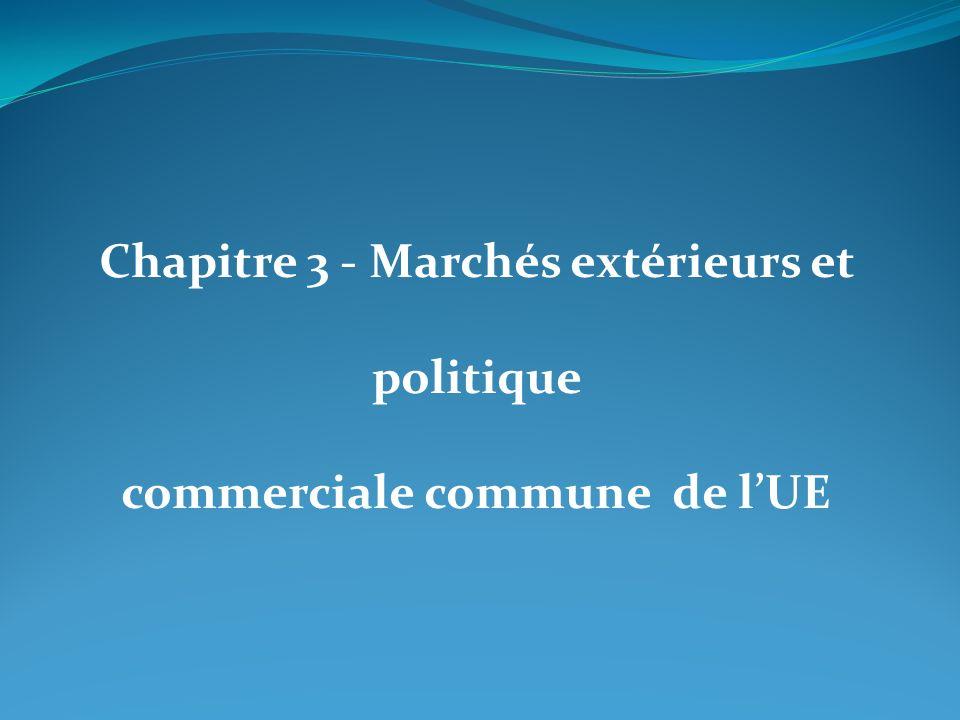 Chapitre 3 - Marchés extérieurs et politique commerciale commune de lUE