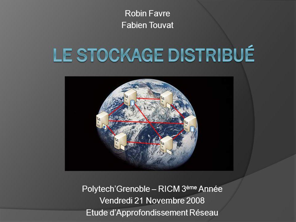 PolytechGrenoble – RICM 3 ème Année Vendredi 21 Novembre 2008 Etude dApprofondissement Réseau Robin Favre Fabien Touvat