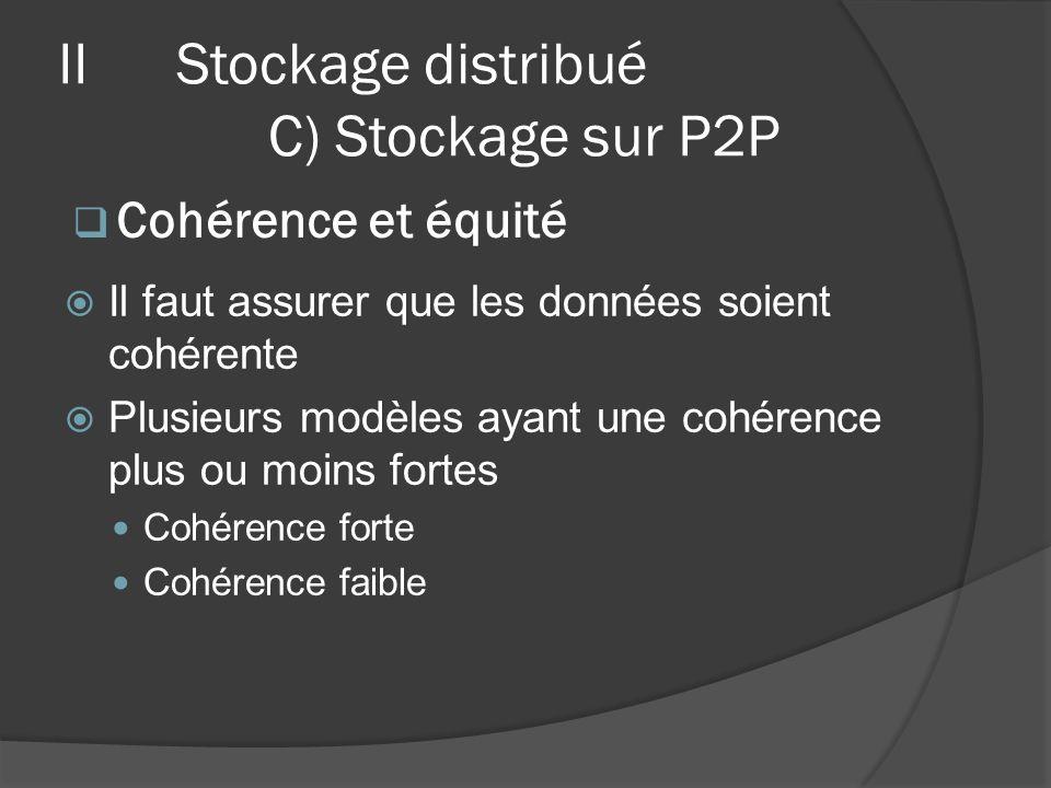 Il faut assurer que les données soient cohérente Plusieurs modèles ayant une cohérence plus ou moins fortes Cohérence forte Cohérence faible Cohérence