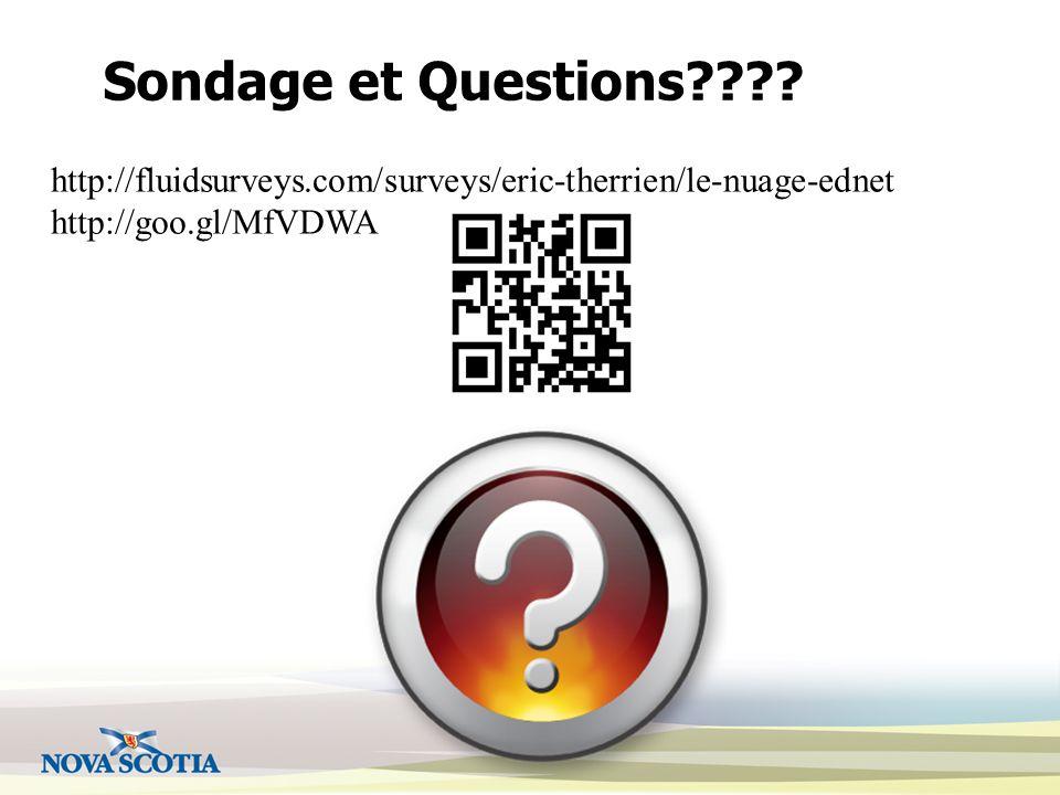 Sondage et Questions .