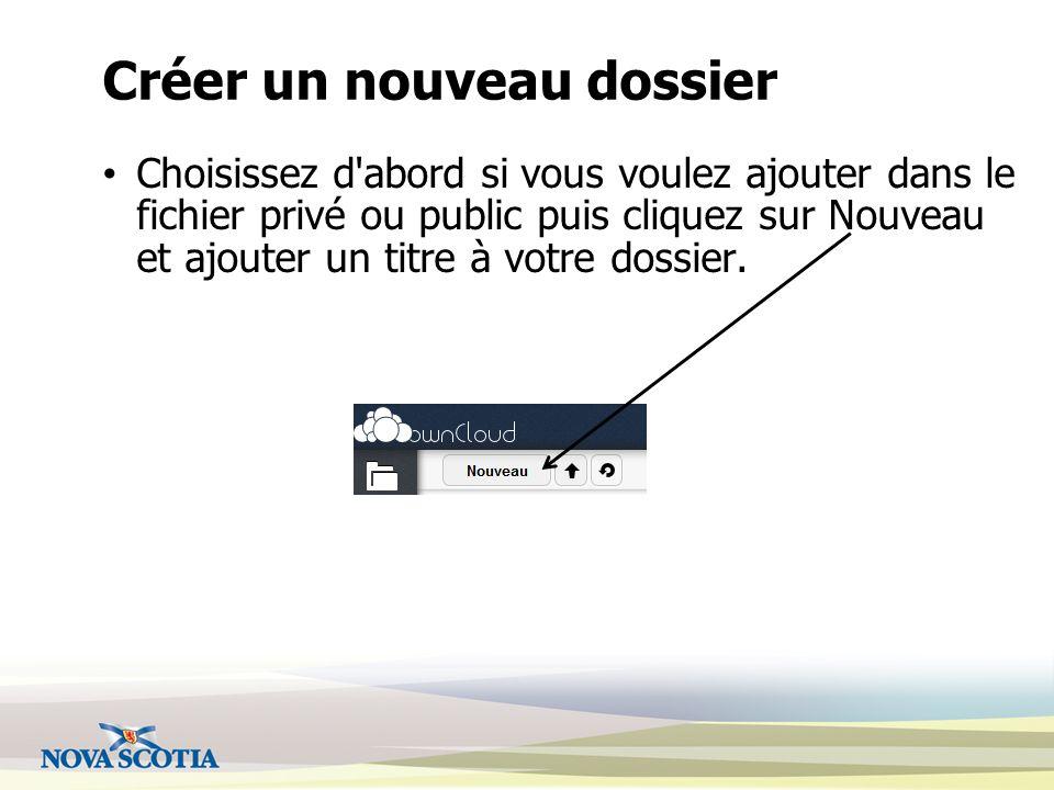 Envoyer des fichiers Cliquez sur la flèche pour envoyer des fichiers ou des fichiers zip dans votre nuage.