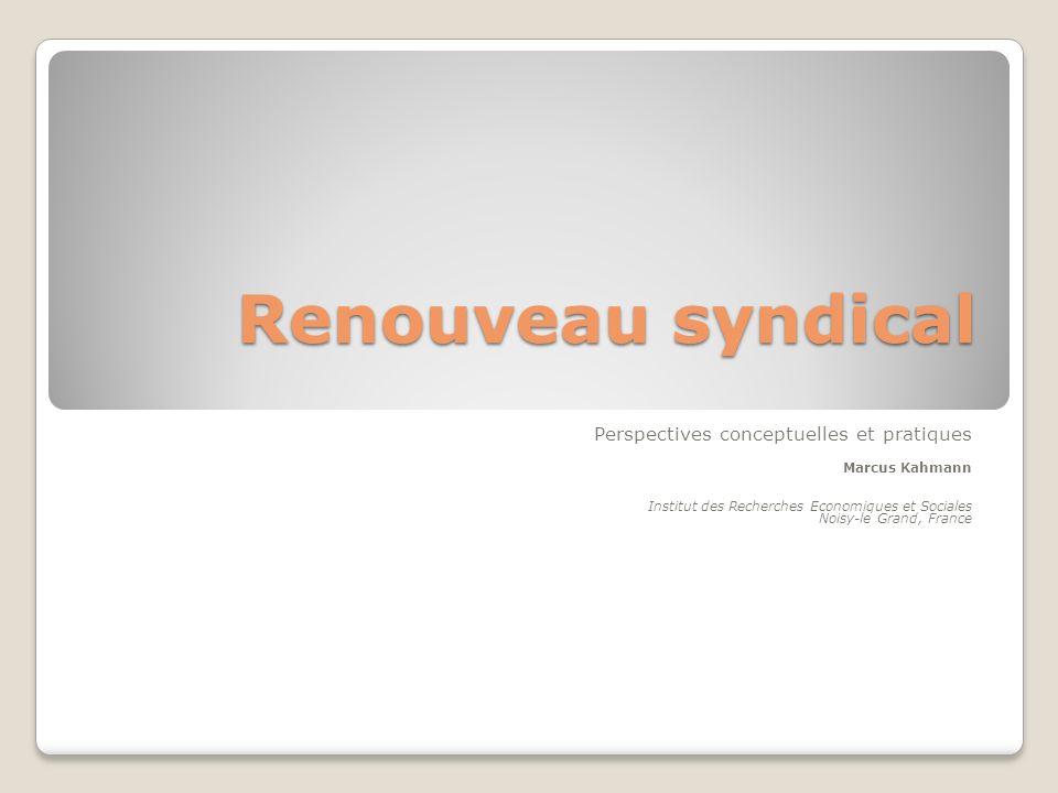 Quatre dimensions de renouveau syndical
