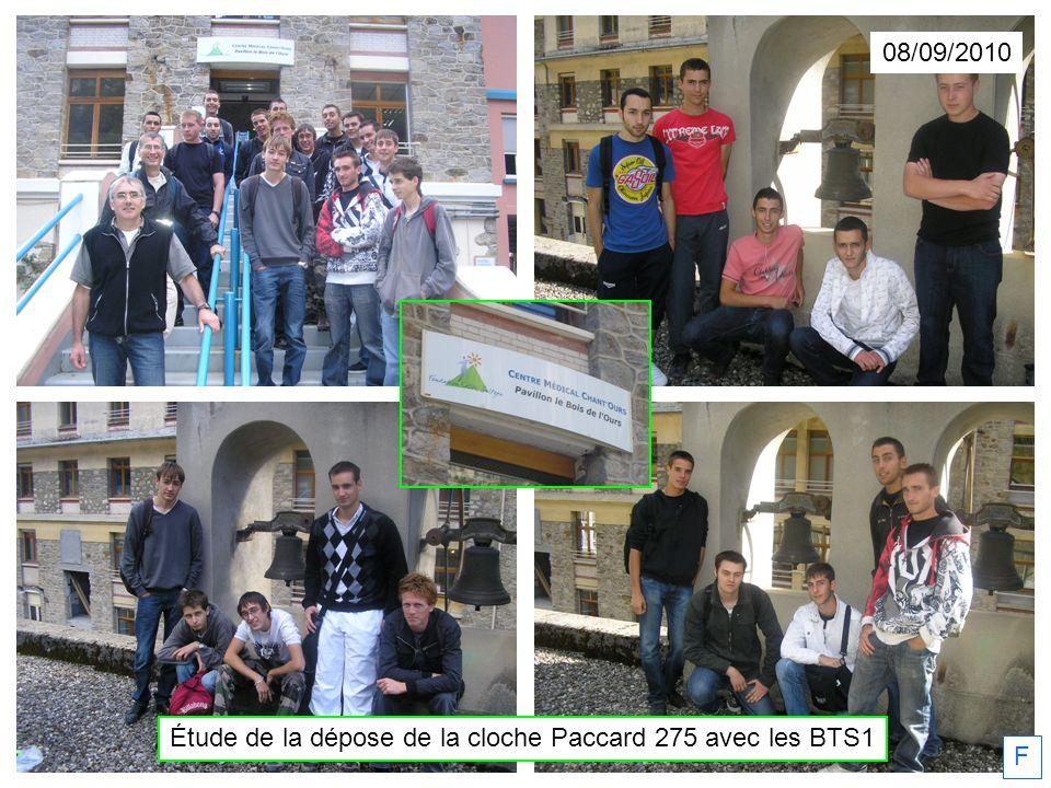 08/09/2010 Étude de la dépose de la cloche Paccard 275 avec les BTS1 F