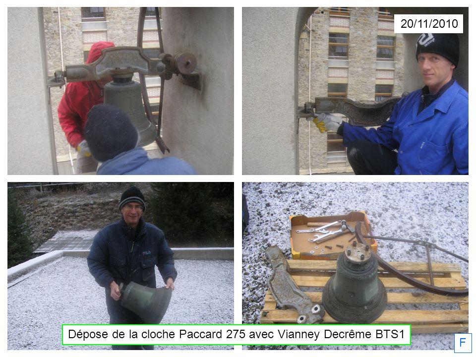 F Dépose de la cloche Paccard 275 avec Vianney Decrême BTS1