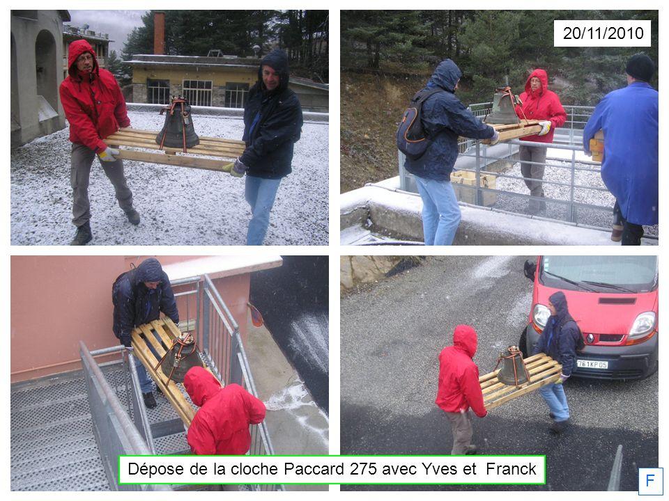 20/11/2010 F Dépose de la cloche Paccard 275 avec Yves et Franck
