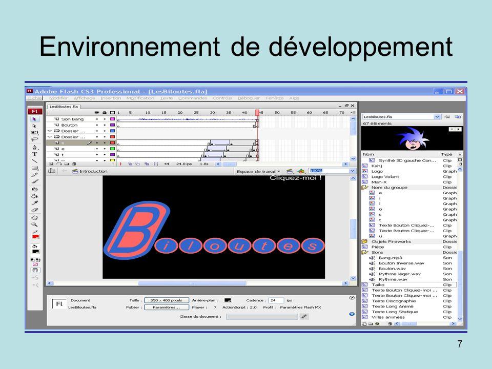 7 Environnement de développement