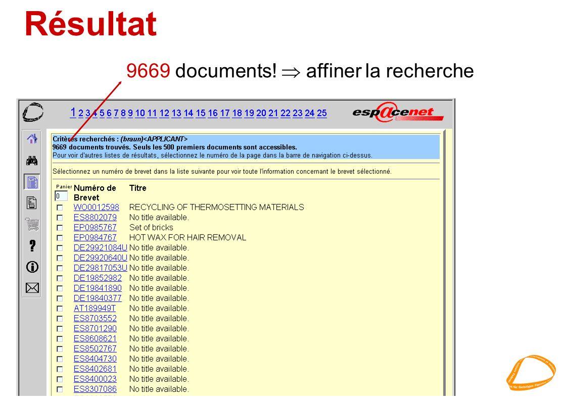 Résultat 9669 documents! affiner la recherche