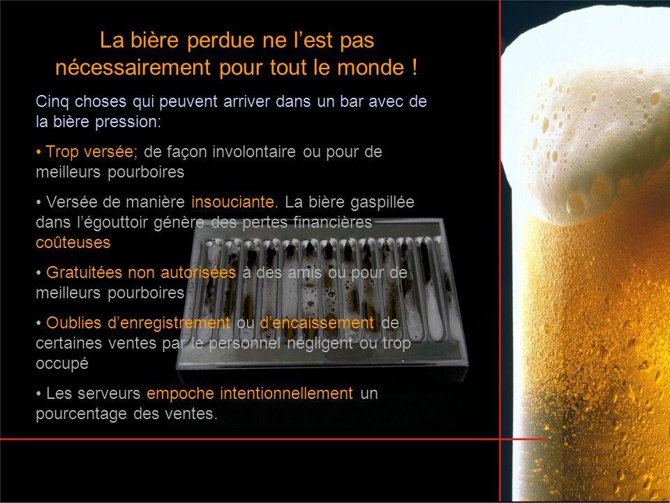 La bière perdue ne lest pas nécessairement pour tout le monde ! Cinq choses qui peuvent arriver dans un bar avec de la bière pression: Trop versée; de