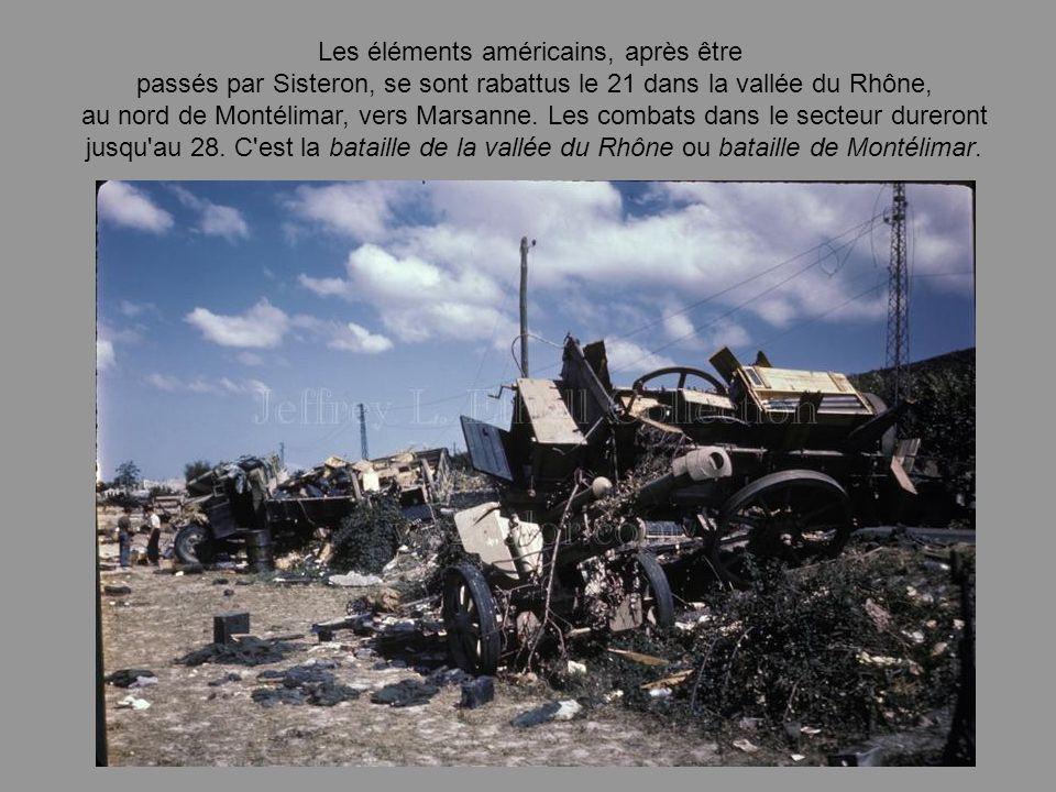 Le 17 aôut 1944 c'est le début du repli pour l'armée allemande dont les véhicules s'amoncellent entre Livron et Montélimar et sont contraints de livre