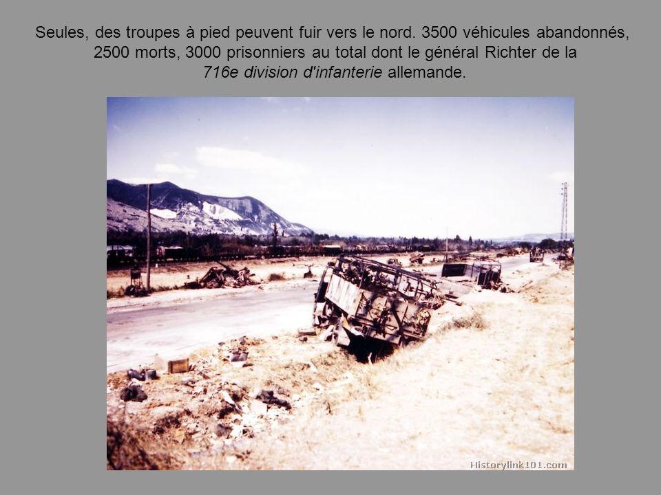Les éléments américains, après être passés par Sisteron, se sont rabattus le 21 dans la vallée du Rhône, au nord de Montélimar, vers Marsanne. Les com