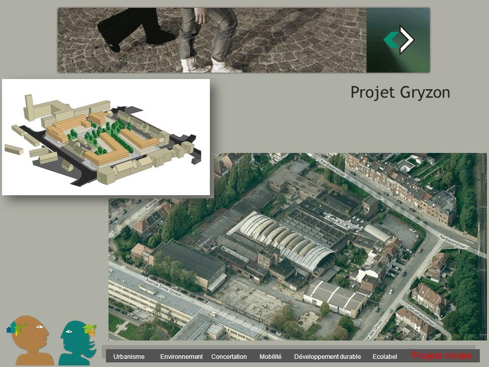 Urbanisme Environnement Concertation Mobilité Développement durable Ecolabel Projets mixtes Projet Gryzon