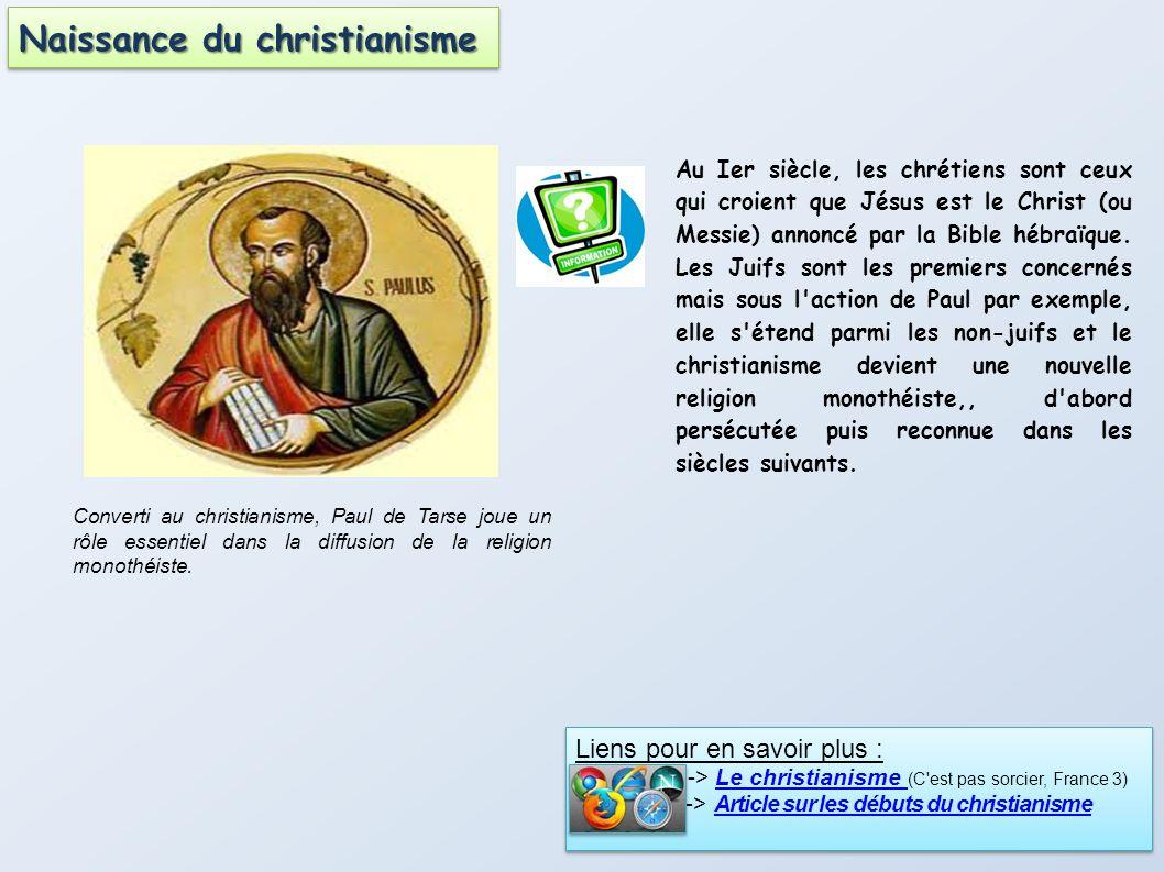 Au Ier siècle, les chrétiens sont ceux qui croient que Jésus est le Christ (ou Messie) annoncé par la Bible hébraïque. Les Juifs sont les premiers con