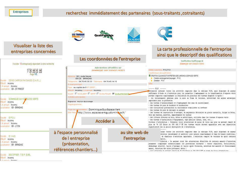 EDIAO Veille BaseEntrepriseRésultat recherchez immédiatement des partenaires (sous-traitants,cotraitants) Visualiser la liste des entreprises concerné