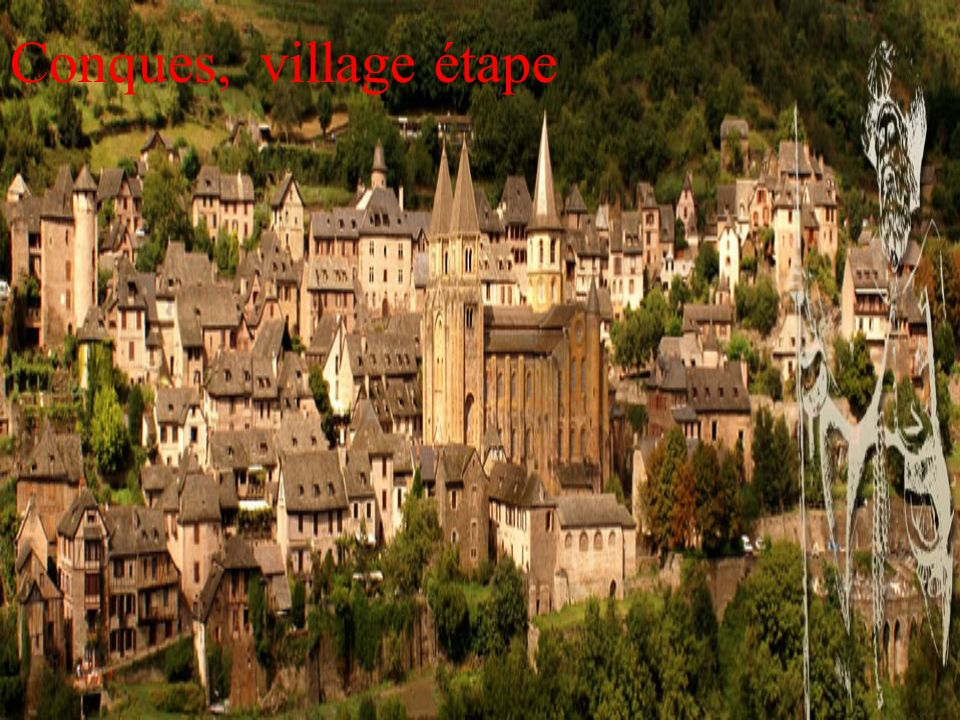 Conques, village étape