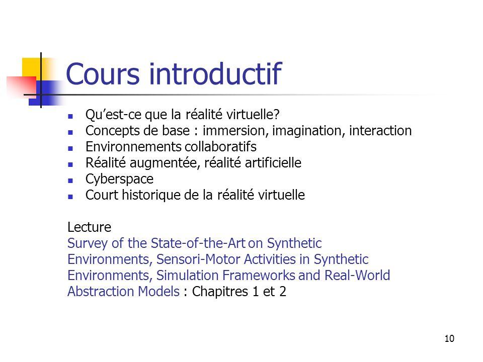 10 Cours introductif Quest-ce que la réalité virtuelle.