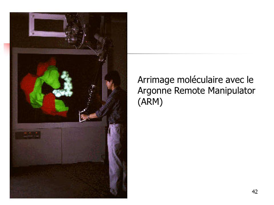 42 Arrimage moléculaire avec le Argonne Remote Manipulator (ARM)