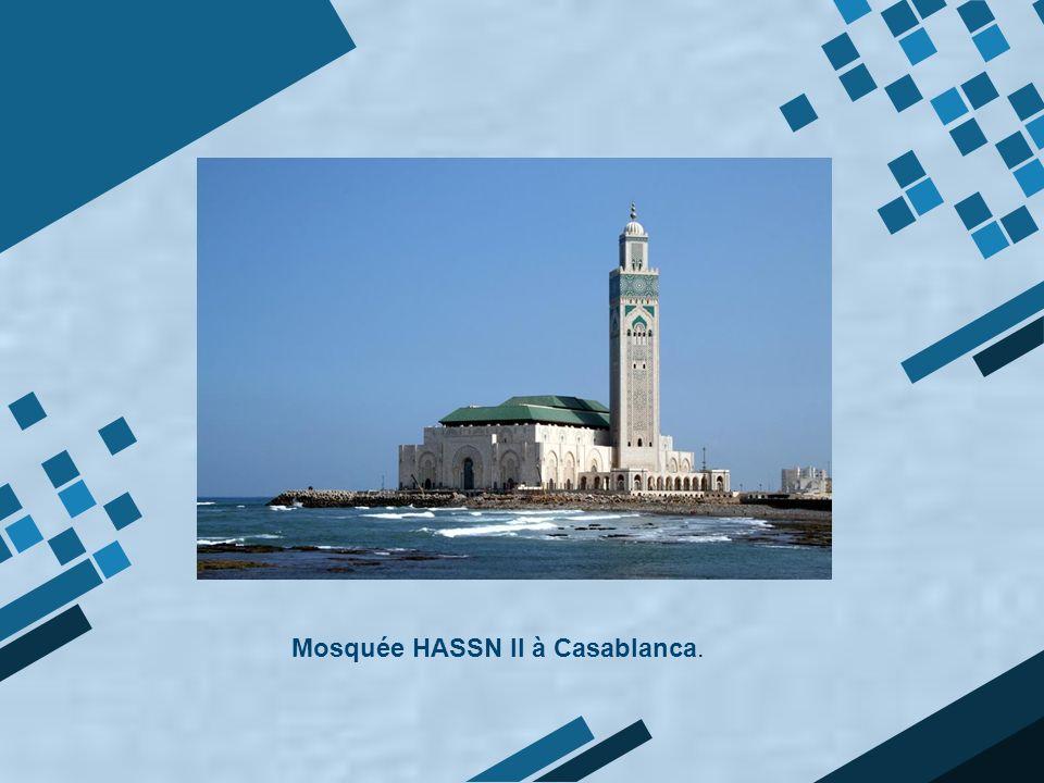 Mosquée HASSN II à Casablanca.