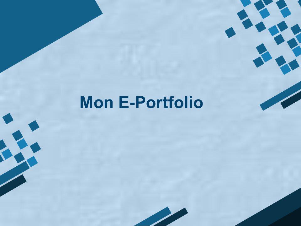 Mon E-Portfolio