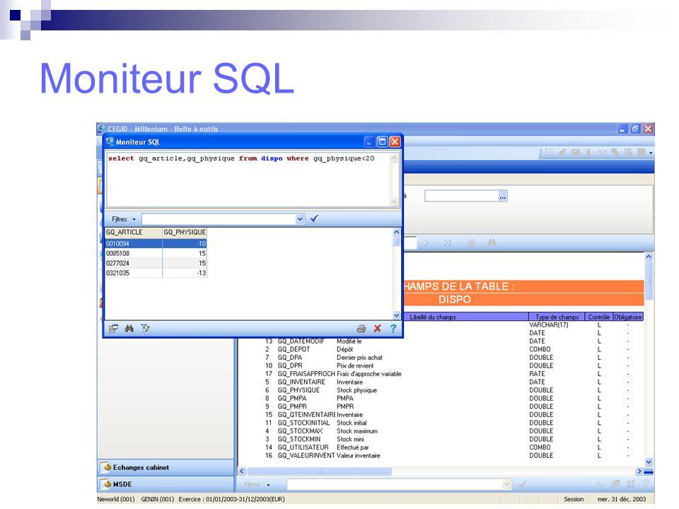 Moniteur SQL