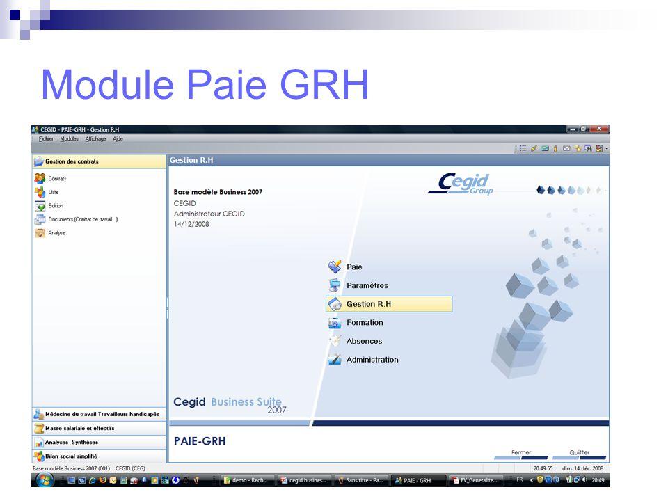 Poste Autonome Les logiciels : module comptabilité, module suivi des règlements,….