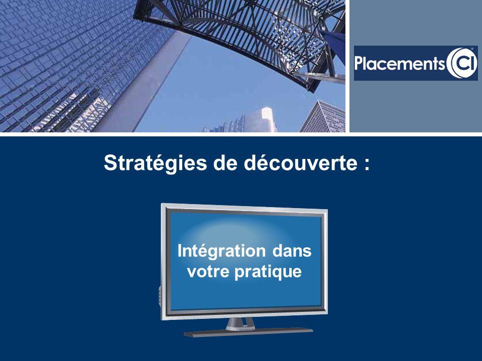 Stratégies de découverte : Intégration dans votre pratique