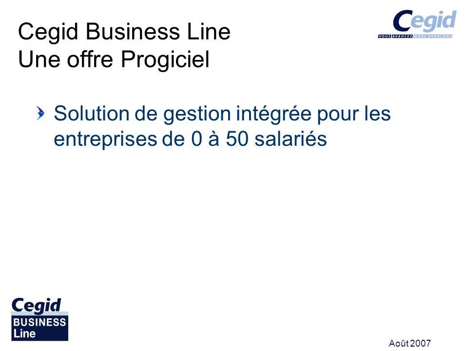 Août 2007 Cegid Business Line propose une relance clients. Il existe 3 niveaux de relance.